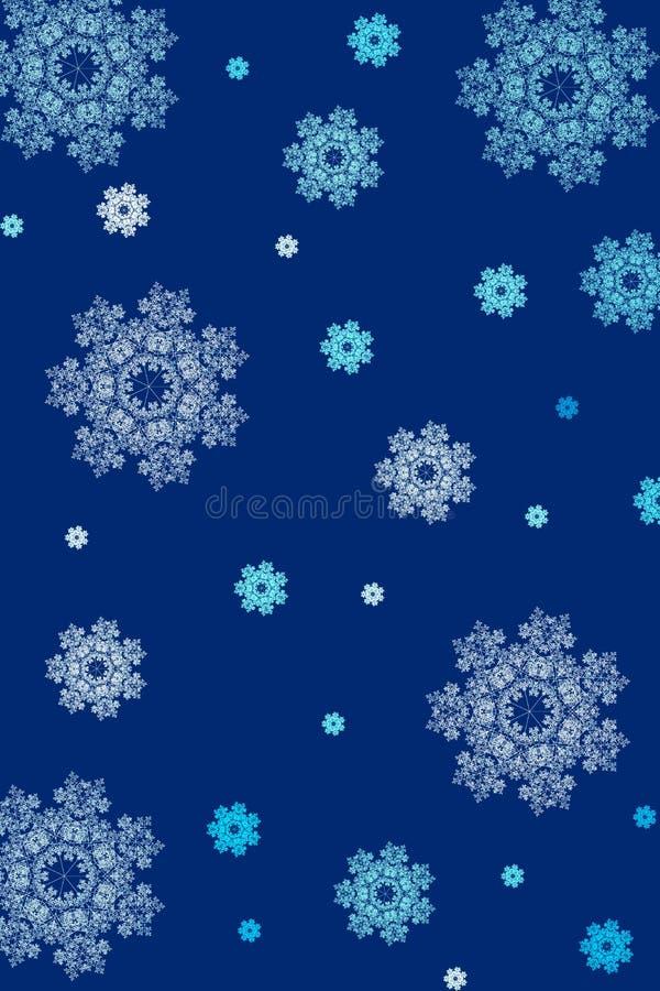 tło płatki śniegu royalty ilustracja