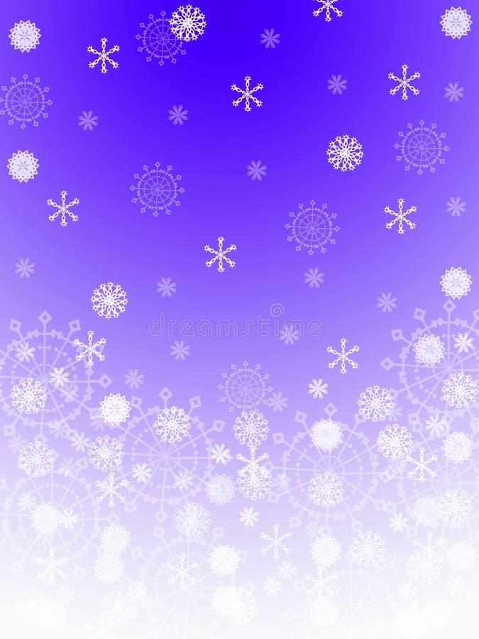 tło płatki śniegu ilustracji