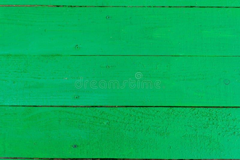 Tło płyt drewnianych malowanych zieloną farbą zdjęcie stock