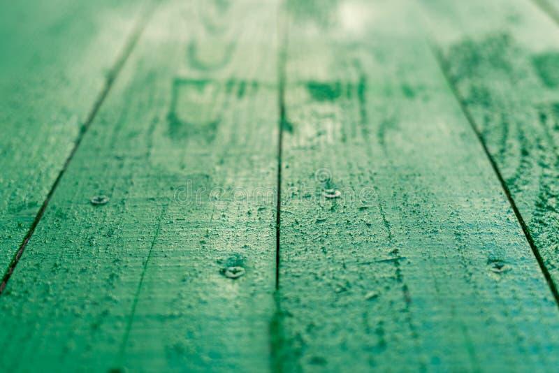 Tło płyt drewnianych malowanych zieloną farbą obrazy stock