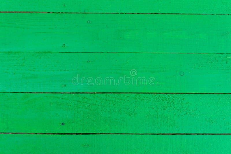Tło płyt drewnianych malowanych zieloną farbą obrazy royalty free