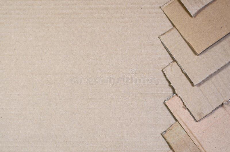 Tło papierowe tekstury wypiętrzał gotowego przetwarzać Paczka stary biurowy karton dla przetwarzać jałowy papier Stos wastepa obraz stock