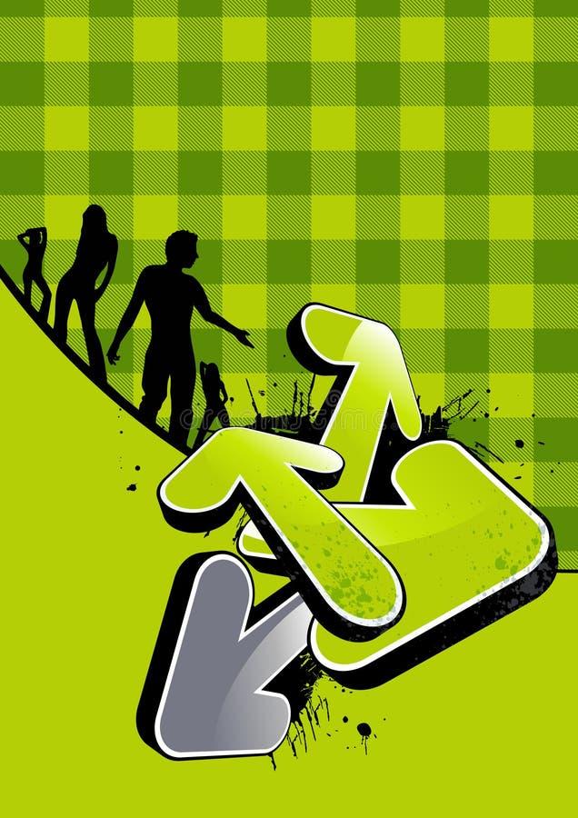 tło partia zielona ilustracji