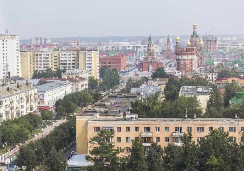 Tło pejzażu miejskiego panoramy widok miasto Ola zdjęcie royalty free