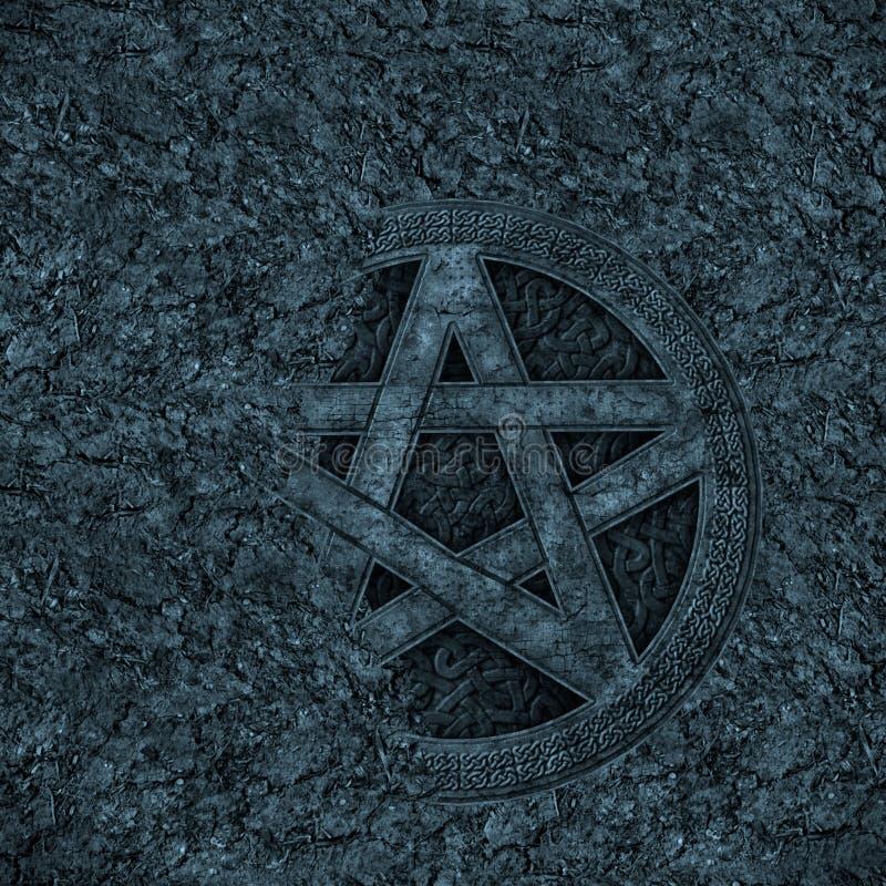 tło pentagram ilustracja wektor
