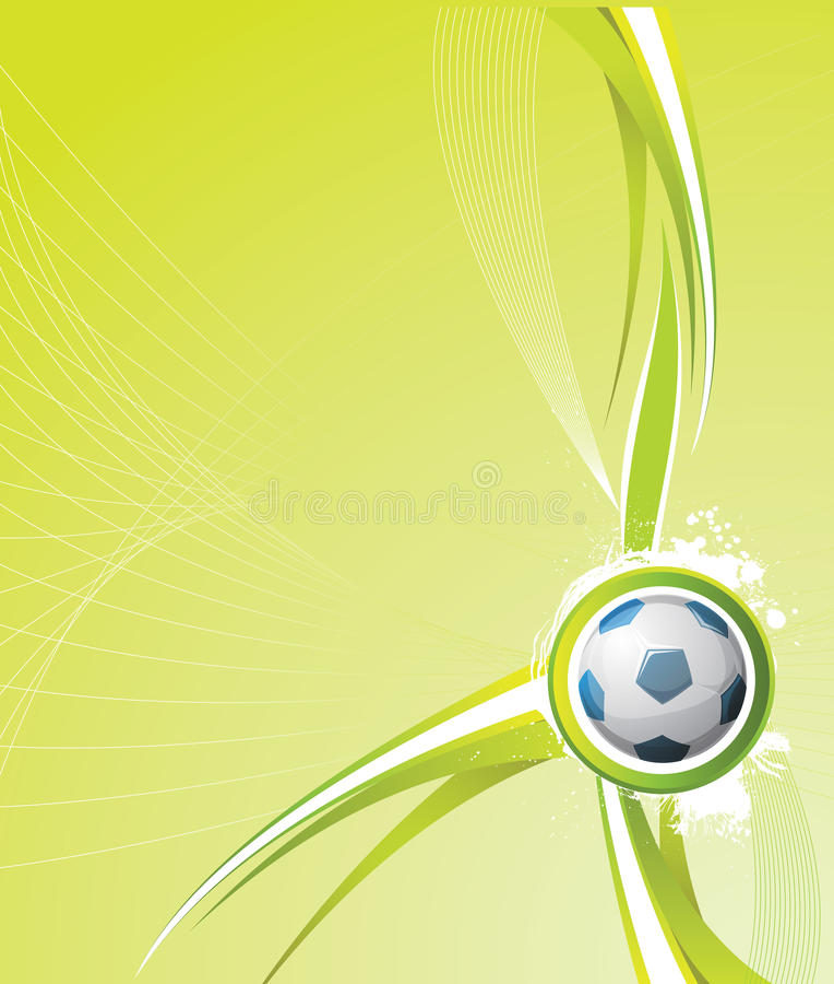 tło piłka nożna royalty ilustracja