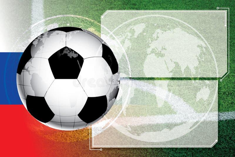 Tło piłki nożnej futbolowy Turniejowy rozkład ilustracja wektor