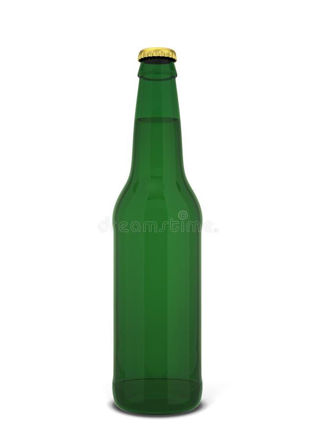 tło piwnej butelki pomarańczowy ilustracyjny wektora ilustracja wektor