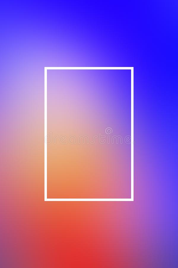 Tło plamy gradientu ramy abstrakt, projekt prezentacja royalty ilustracja