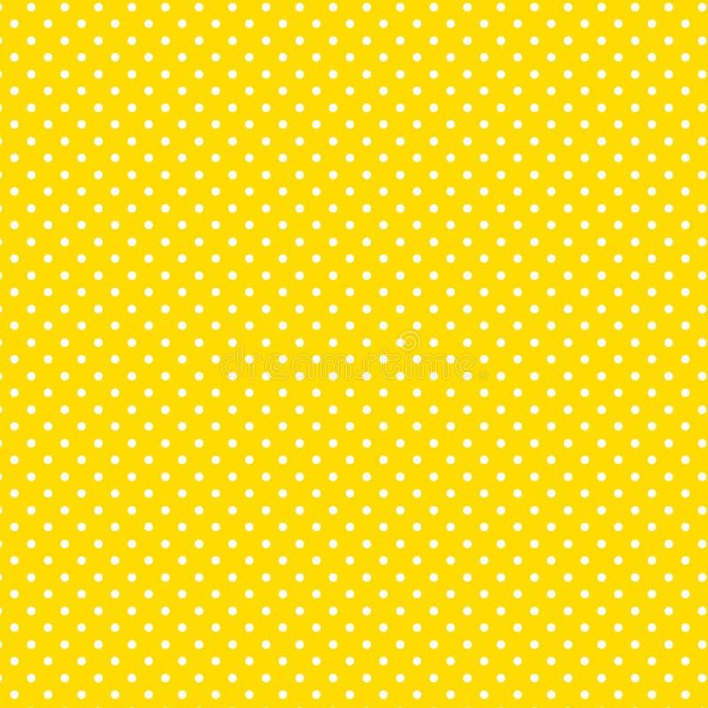 tło polkadots mały biały kolor żółty royalty ilustracja