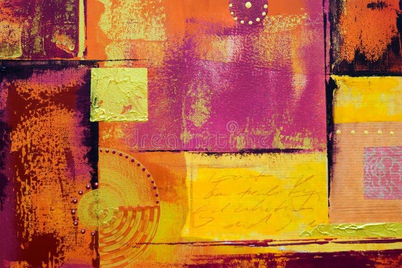 tło pomalowane abstrakcyjne ilustracja wektor