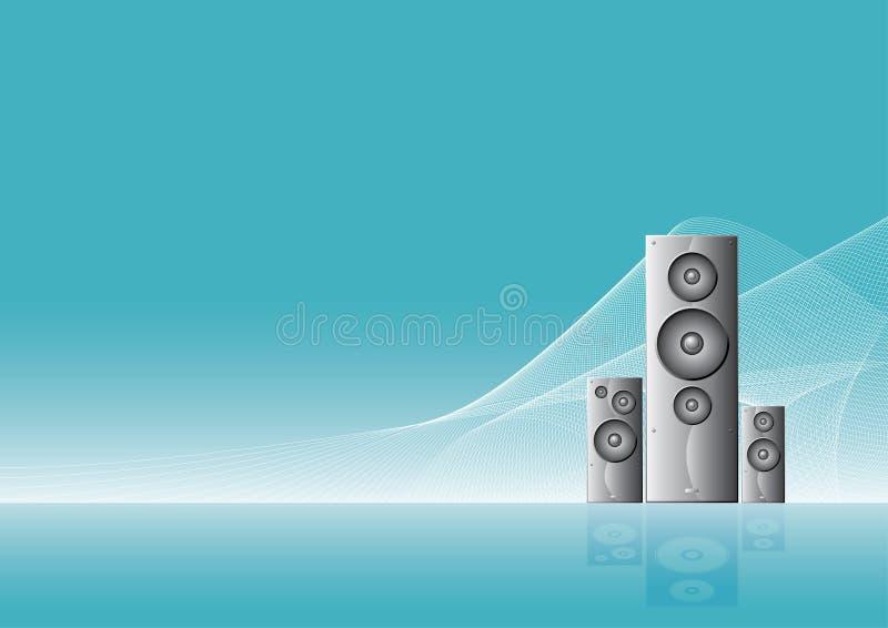 tło pouczać mówca muzyczne fale ilustracji