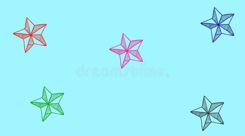 TÅ'o powtarzania siÄ™ czarnych i czerwonych gwiazd ilustracja wektor