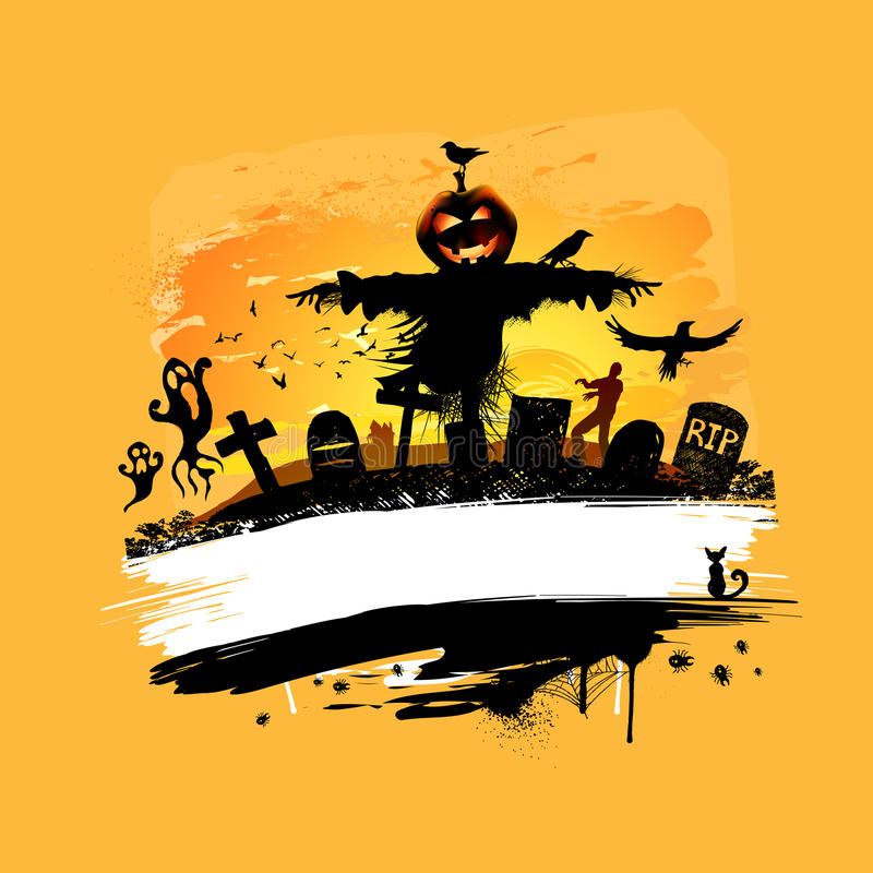 tło projekt Halloween ilustracja wektor