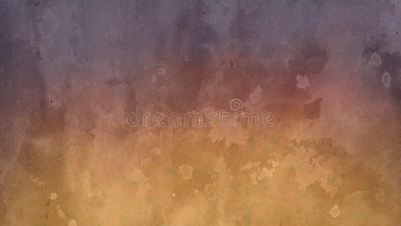 Tło projekt w kolorze żółtym i purpury z białym poplamionym akwarela kranem i obmyciem krwawimy projekt w abstrakcjonistycznych f ilustracji