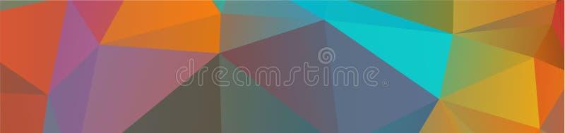 tło projekta Geometryczny tło w Origami stylowej i abstrakcjonistycznej mozaice z gradientowym pełnia kolorem prostokąt royalty ilustracja