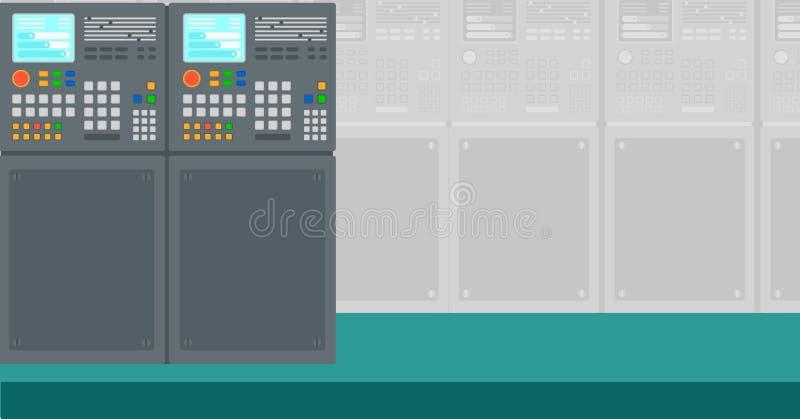 Tło przemysłowy system kontrolny ilustracja wektor