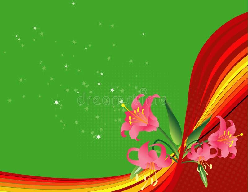 tło przepływu wiosna kwiat ilustracja wektor