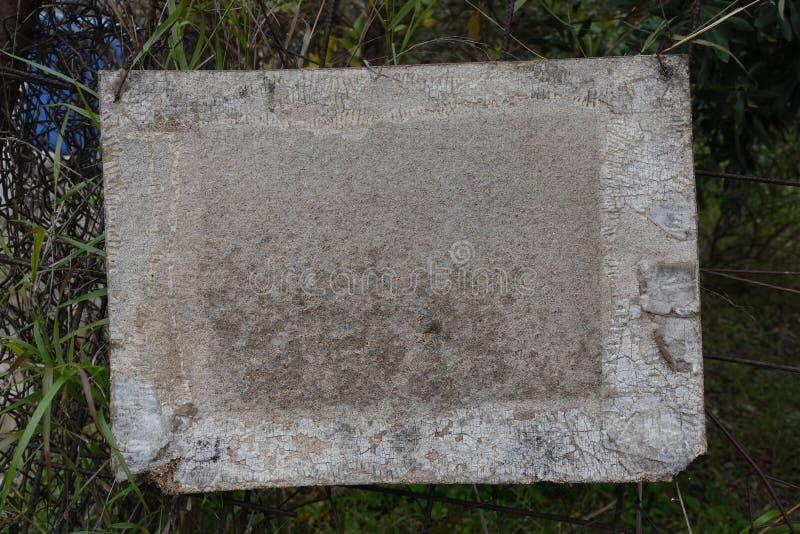 Tło pustego znaku drewnianego fotografia stock