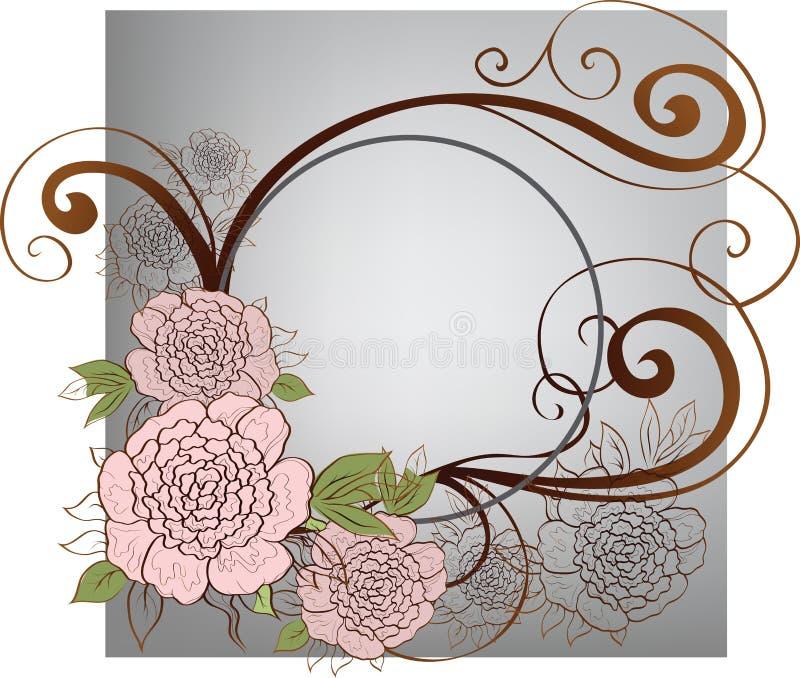 tło róże ilustracja wektor