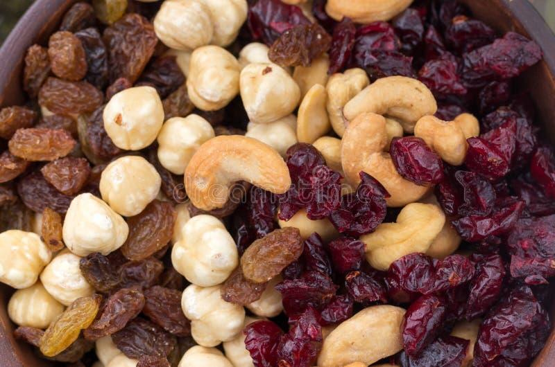 Tło różnorodność jagody i dokrętki zdjęcie stock