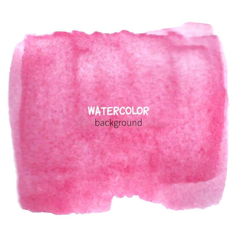 tło różowa akwarela ilustracja wektor