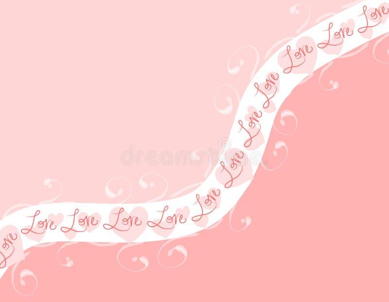 tło różowe pasków swoosh miłości royalty ilustracja