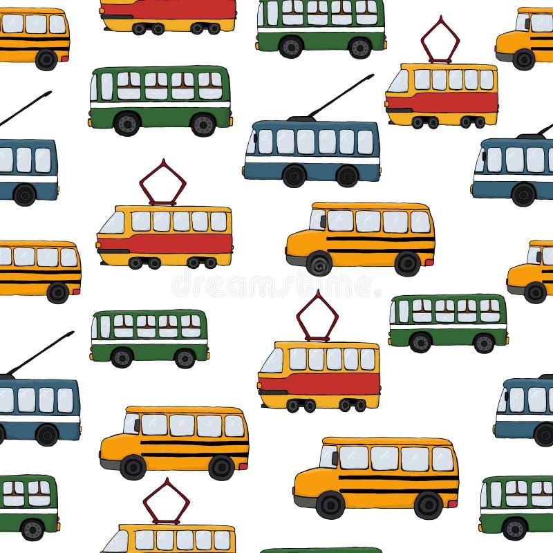 Tło retro transportu royalty ilustracja