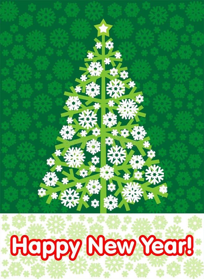 tło rok zielony nowy drzewny ilustracji