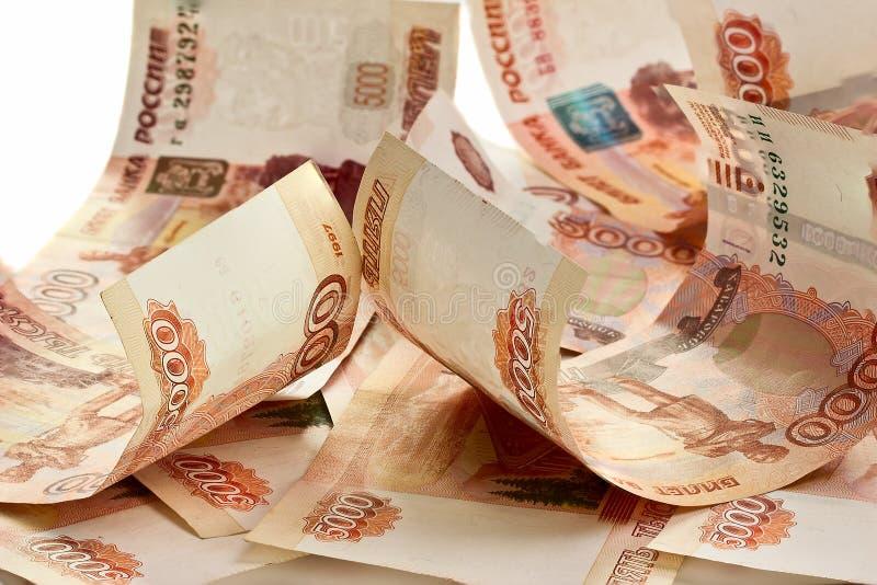 Tło Rosyjscy banknoty fotografia royalty free