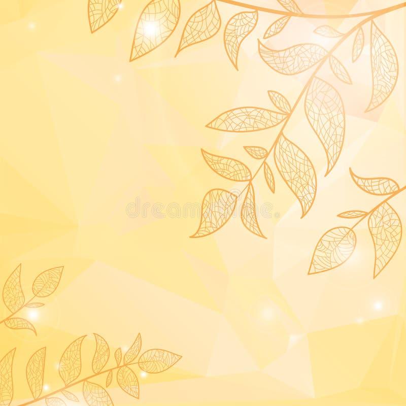 tło rozgałęzia się liść ilustracji