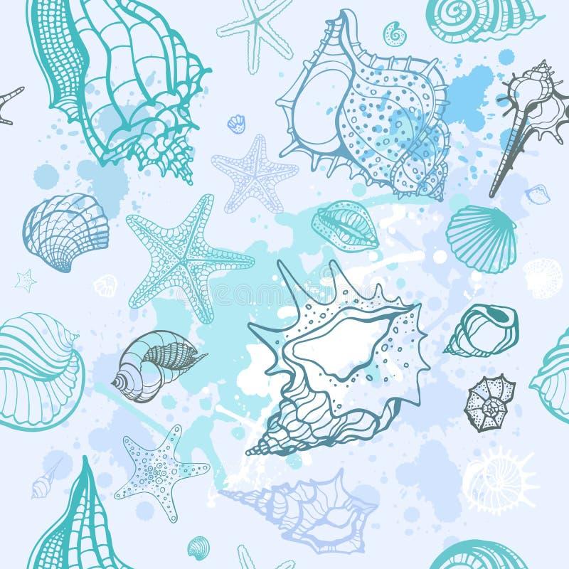 tło rysujący ręki ilustraci morze royalty ilustracja