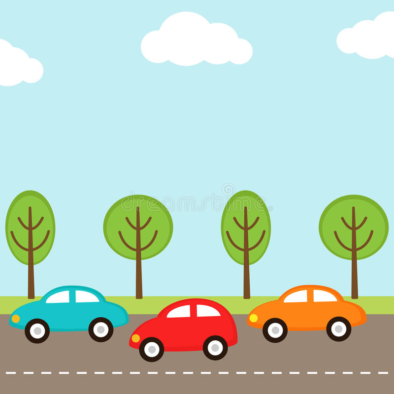 tło samochody royalty ilustracja