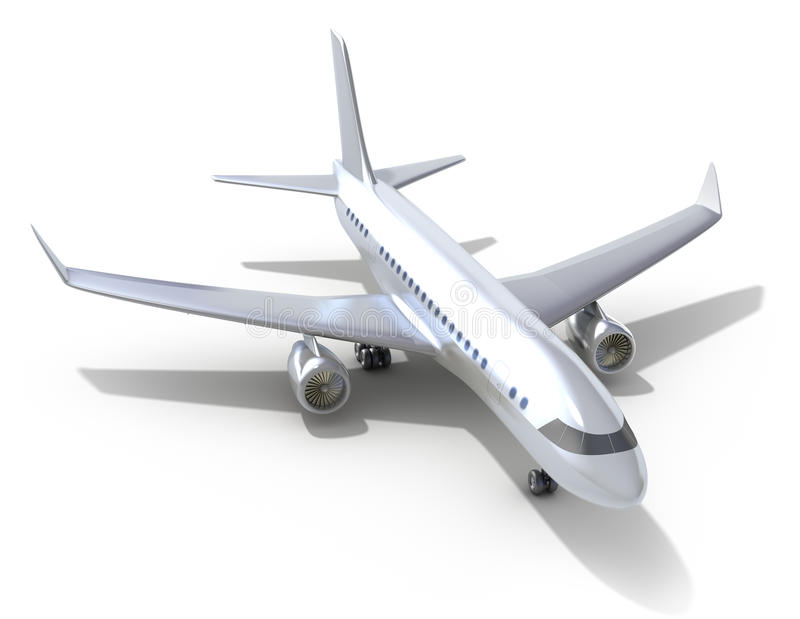 tło samolotowy biel royalty ilustracja