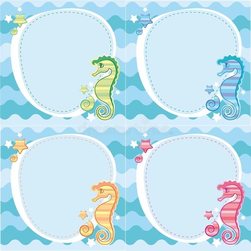 tło seahorses royalty ilustracja
