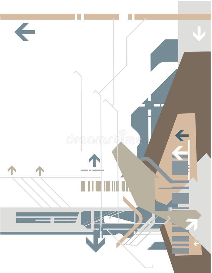 tło serii wysokiej technologii ilustracja wektor