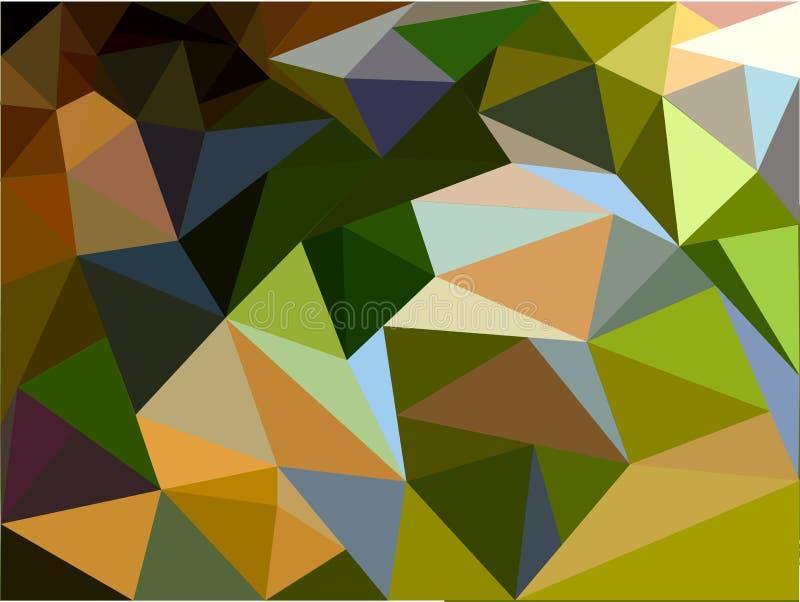 Tło składa się geometrycznych kształty w zieleni brzmieniach ilustracja wektor
