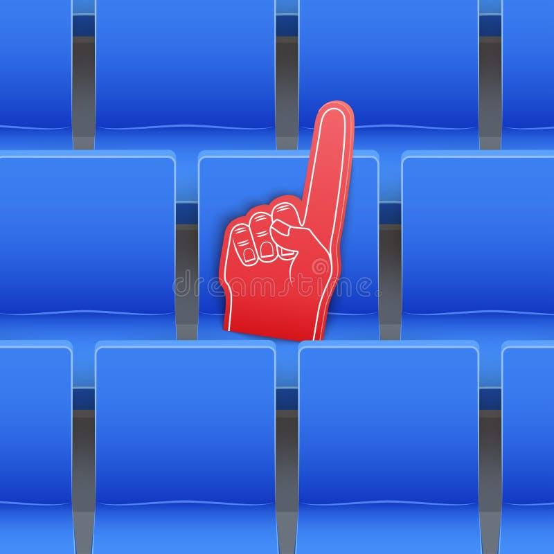Tło stadiów siedzenia i fan piana dotykamy ilustracja wektor