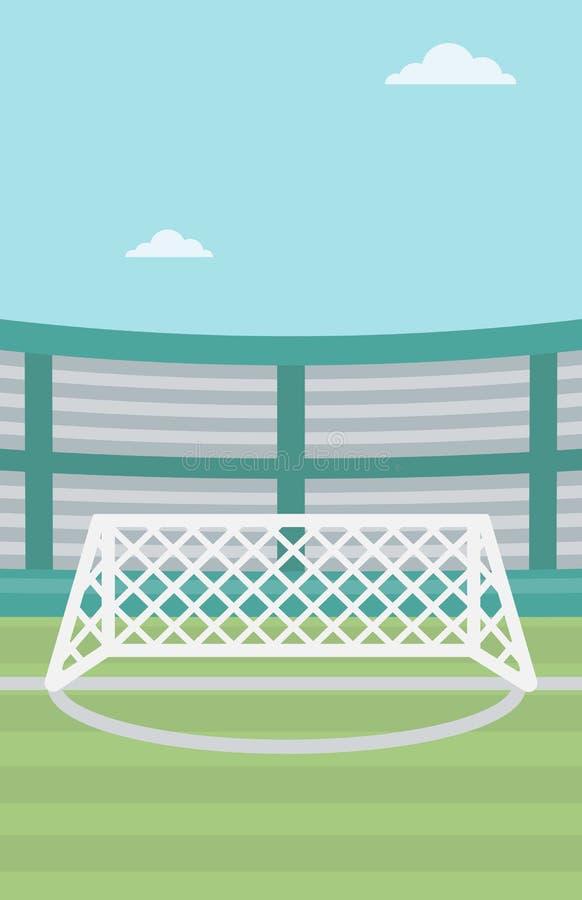 Tło stadium piłkarski ilustracja wektor