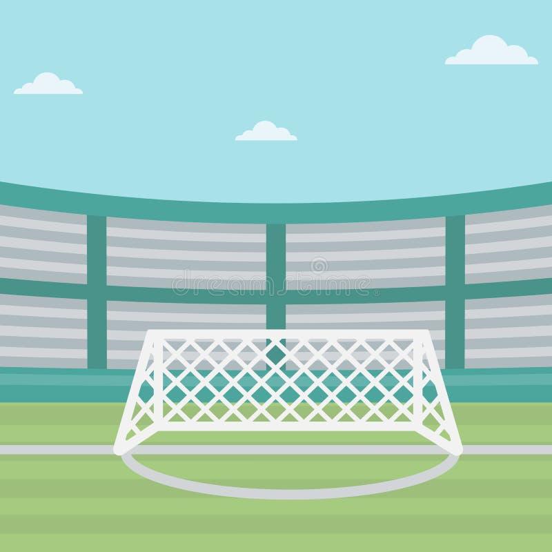 Tło stadium piłkarski royalty ilustracja