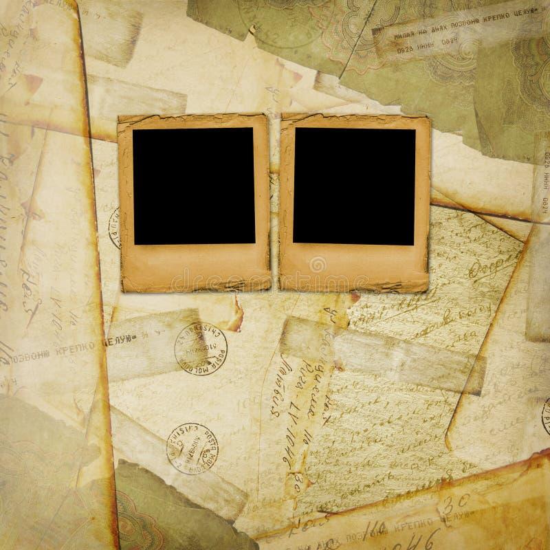 tło starzejący się rocznik stary pocztówkowy royalty ilustracja