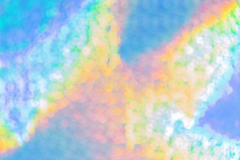 Tło stubarwnej abstrakcjonistycznej tęczy błękitny holograficzny jaskrawy z gradientowym jaśnieniem z skutkiem czech kolor  obraz royalty free