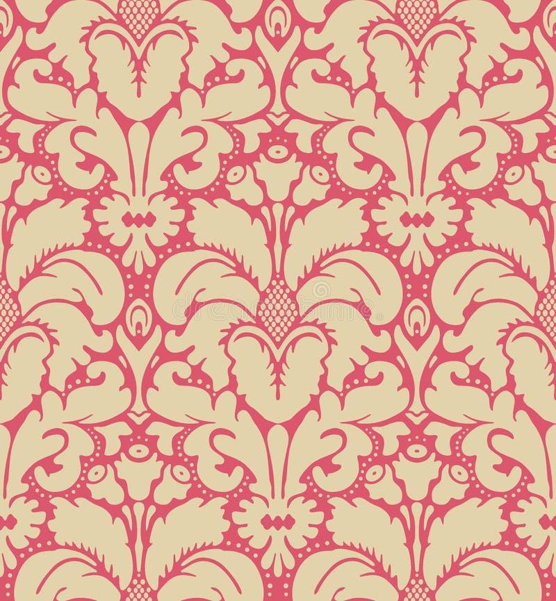 tło styl barokowy bezszwowy ilustracji
