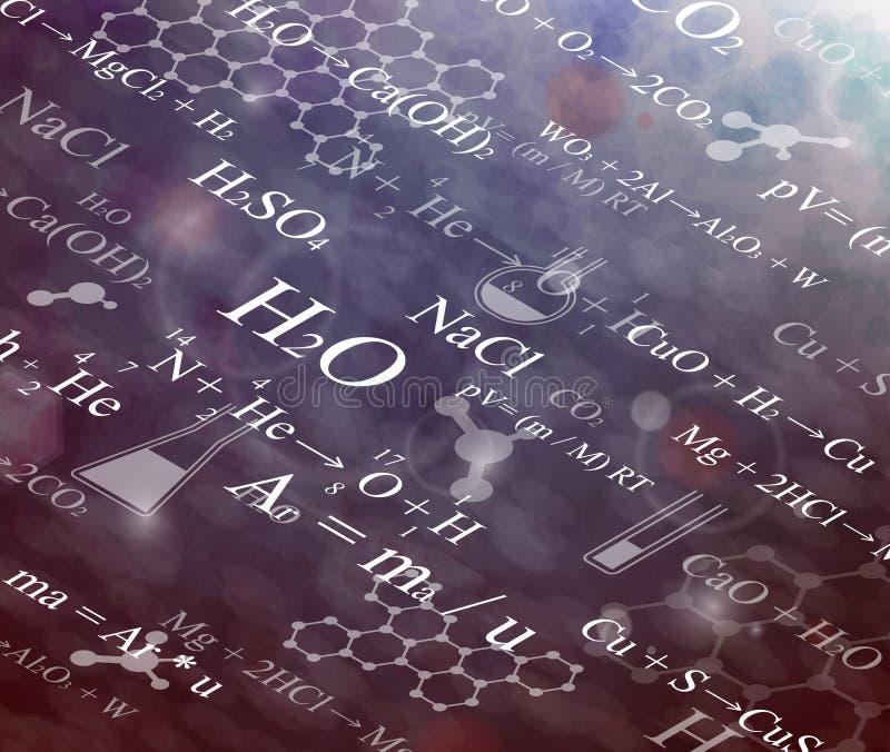 tło substancja chemiczna ilustracji