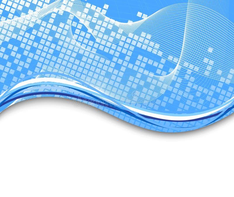 tło szablon błękitny zaawansowany technicznie royalty ilustracja
