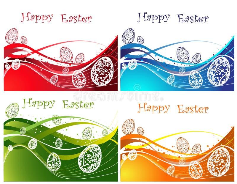 tło szczęśliwy inkasowy Easter royalty ilustracja