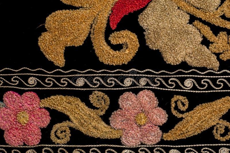 tło szczegółów tekstury okno stary drewniane szablon antyki Bukhara handmade dywan obrazy stock