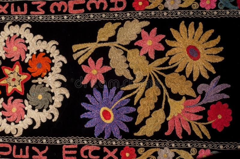 tło szczegółów tekstury okno stary drewniane szablon antyki Bukhara handmade dywan fotografia royalty free