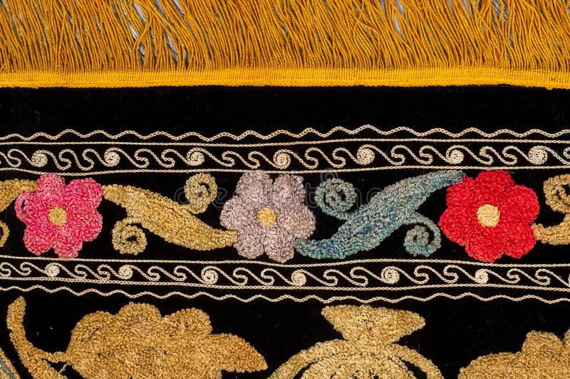 tło szczegółów tekstury okno stary drewniane szablon antyki Bukhara handmade dywan zdjęcia royalty free
