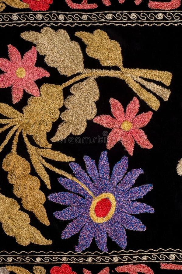 tło szczegółów tekstury okno stary drewniane szablon antyki Bukhara handmade dywan obraz stock